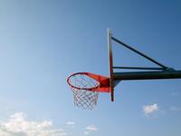 Basketball court at summer 1