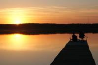 Sunset over Polish Lake