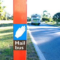 bus going past the stop 1