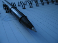 pen paper close up