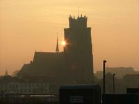 Church in morning sun