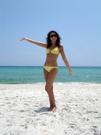 Yellow Polka Dot Bikini 3