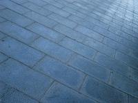 Blue sidewalk