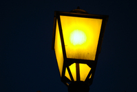 Street lighting at night