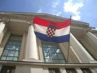 Croatian parliament and flag