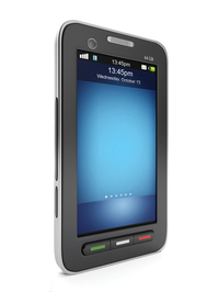 3d illustration: Mobile technology. mobile phone