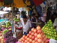 Fruit stall in Calcutta