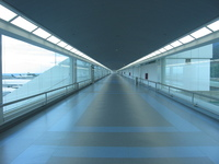 Caracas airport hallway