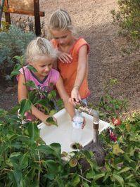 Girls at a basin