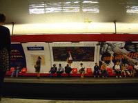 waiting for metro