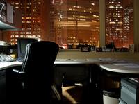 Window Office at Night