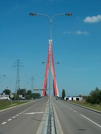 modern bridge in Gdansk