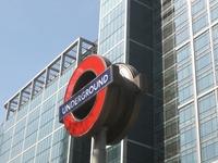 London Underground Roundel, Canary Wharf