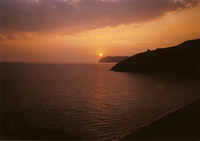 sunset in Palinuro