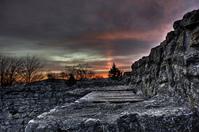 Dusk over a ruin