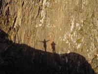 Shadow on the rocks