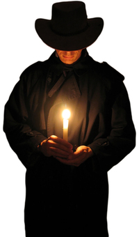 Man holding candle