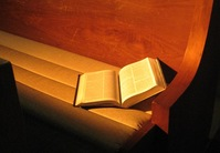 Bible in pew