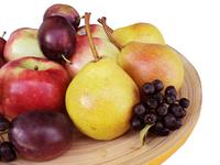 fresh fruits on white photos 1