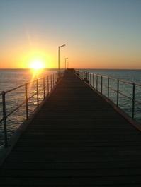 Sunset over Pt Noarlunga Jetty