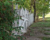 old broken fence