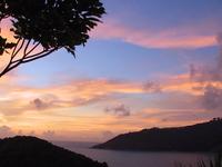 Scenic Phuket islands at sunse