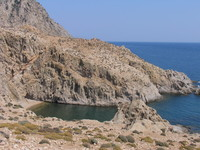 Beach in Samothraki island, Greece