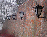 Old style street lamps