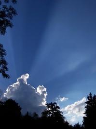 Sol tras la Nube
