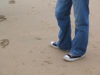 bloke on the beach