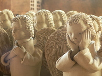 Angels made of Ceramics
