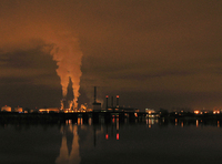 smoking factory