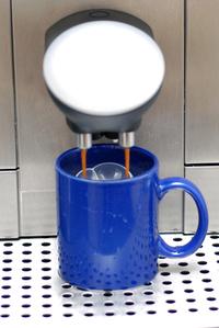 Making the milk coffee 1