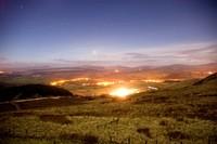 Welsh Vallies at night