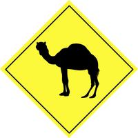 Warning sign - animal 1