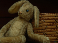 steiff bunny and mic mac baske