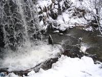 Waterfall in winter 2