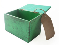 Green Box with Paper Tag