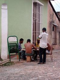 men playing domino