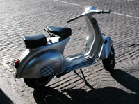 Silver Scooter
