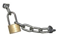 Candado con cadena