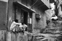 Two men in Makkah old town