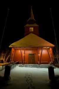Kautokeino Church by night