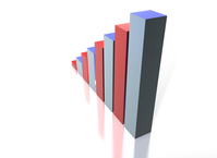 3D Financial graph 1