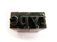 metal type from letterpress 1