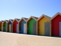 Beach hut's at Blyth
