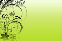 Green grunge floral design