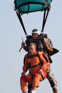 Tandem Skydive Landing 2