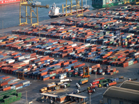 Barcelona Dockside - Arial sho