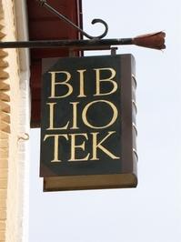 Bibliothek Sign